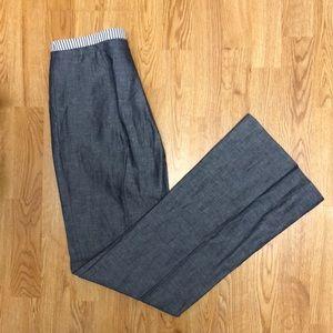 Bcbg trouser-style jeans with seersucker waist